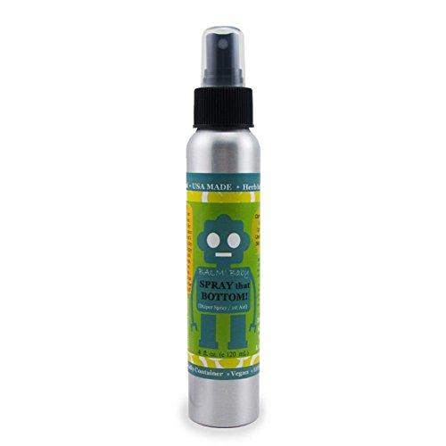 BALM! Baby - Spray That Bottom All Natural Diaper Spray / 1st Aid for Diaper Rash, Eczema, Bug Bites, Itchy Cradle Cap & More | Cloth Diaper Safe | Made in USA