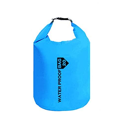 liutian Bolsa seca impermeable de gran capacidad 20L al aire libre buceo natación bolsa de almacenamiento para hombres mujeres Rafting mochila