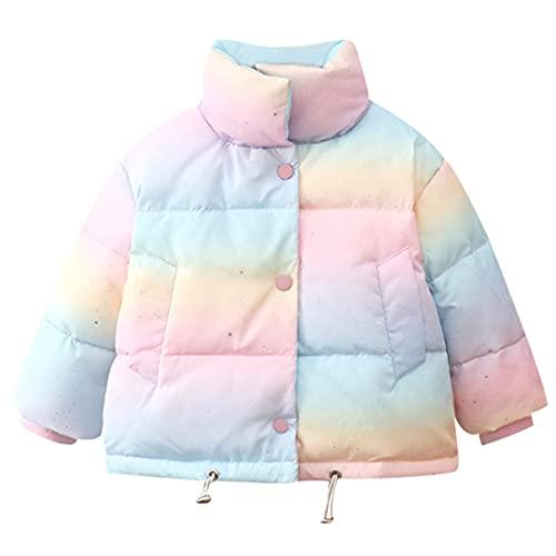 Ctcegtxfx - Piumino invernale con cappuccio in cotone con cappuccio, colore: arcobaleno, come da immagine., 4 Anni
