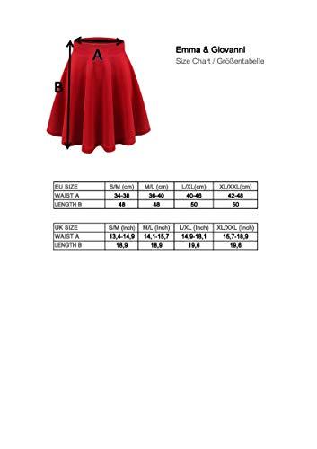 Emma & Giovanni - Minifalda básica - Mujer (S / M, Negro) (Etiqueta del fabricante M)