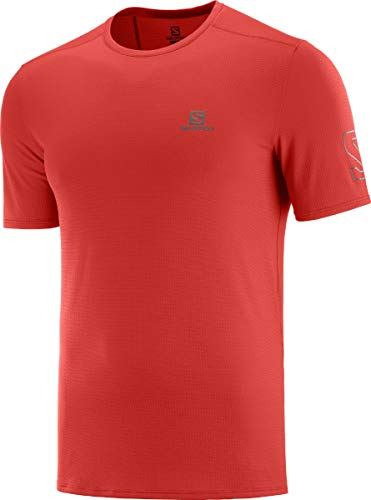 SALOMON XA Trail tee M Camiseta de Manga Corta de Hombre con carbón de bambú y Logo Reflectante para Running