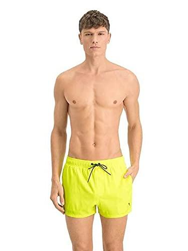 PUMA Herren Men Length Swim Shorts Badehose, Neon Yellow, L