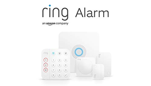 Nuevo kit de 5 piezas Ring Alarm de Amazon (2.ª generación) | Sistema de seguridad para el hogar compatible con Alexa y con vigilancia asistida opcional, sin compromisos a largo plazo