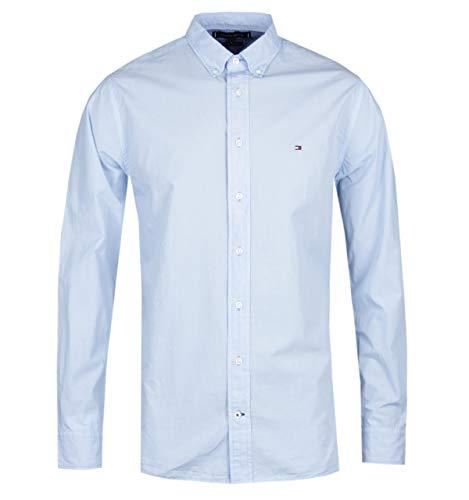 Tommy Hilfiger Camisa de Popelina teñida en Azul Cielo
