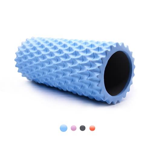 QGKJ Yoga Säule Faszienrolle Massagerolle Eva-Schaumstoffrolle Ideal für Massage, Fitness und Rehabilitation (Blau)