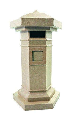 Décopatch LA010O Träger L aus Pappmaché, Briefkasten, 28 x 24 x 48 cm, zum Verzieren, Kartonbraun