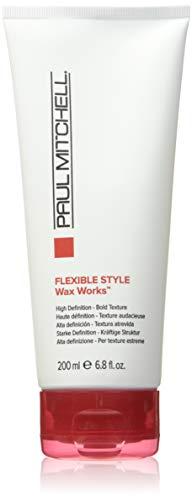 Paul Mitchell Wax Works - formgebendes Struktur-Wachs für Haare in Salon-Qualität, Hair-Wax für starken Glanz, parabenfrei - 200 ml