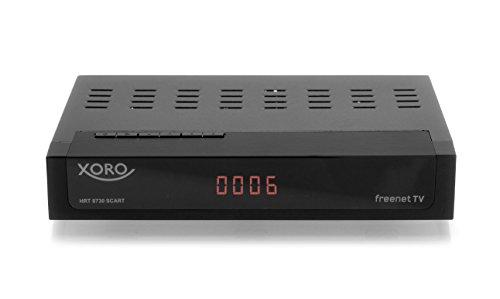 Xoro HRT 8730 SCART DVB-C/DVB-T/T2 receiver (HDTV H.265, kaartloos Irdeto-toegangssysteem voor Freenet TV, kabeltelevisie, mediaspeler, PVR Ready, HDMI, USB 2.0, 12V) zwart