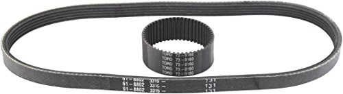 Discover Bargain Toro 73-0160 KIT 1800 Power Curve Snowblower Belt Set (73-0160, 61-8802)