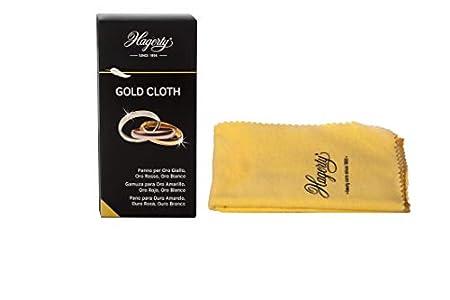 Hagerty Gold Cloth Limpieza 36 x 30 cm I Paño Limpia algodón impregnado en seco Que renueva el Brillo I Gamuza pulidora Amarillo, Rosa, Rojo u Oro Blanco, 1 Unidad (Paquete de 1)