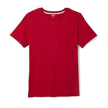 French Toast boys Short Sleeve Crewneck Tee T Shirt Red Medium US