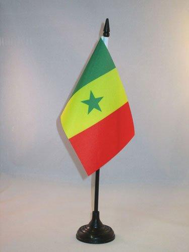 AZ FLAG Drapeau de Table Sénégal 15x10cm - Petit Drapeaux DE Bureau sénégalais 10 x 15 cm