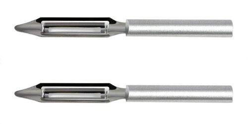 Rada Cutlery Regular Vegetable Peeler, Made in USA, Aluminum Handle (Pack of 2 - R132/2)