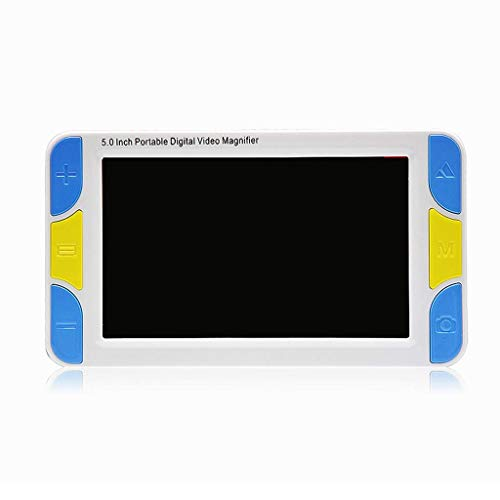 ZHULAOGONG Lupa Digital de Mano de 5 Pulgadas, con luz LED 3X-42X Ganancia Monitor LCD Modos de Color múltiples Vista deficiente Ayuda de Lectura,