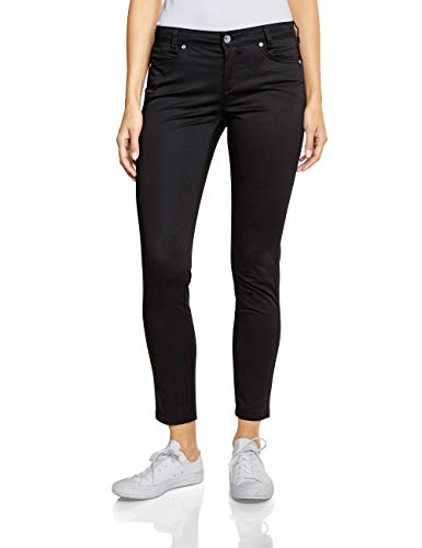 Street One Damen 372068 Yulius Hose, Black, 40W / 30L