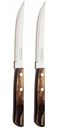 Tramontina Churrasco Set of 2 Steak Knives, Brown