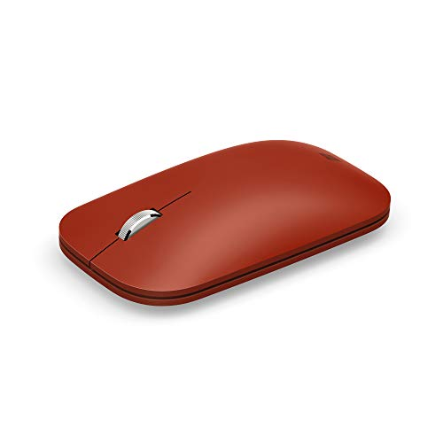 Microsoft Surface Mobile - Ratón (Bluetooth Low Energy, compatible con PC Windows/ Android / MAC BT4.0, 4.1,4.2,5.0) Rojo amapola