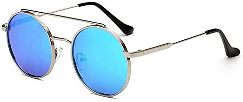 Gafas de sol polarizadas de moda de metal con marco completo, unisex, forma redonda, protección UV400, para conducir, ciclismo, correr, pesca, golf, para mujeres y mujeres (color: C3), C3,