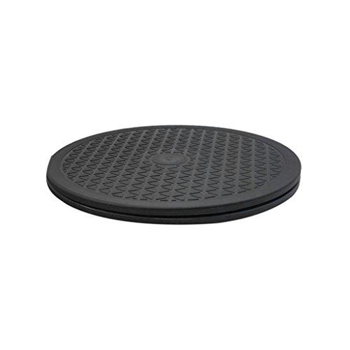 perfk Soporte de Rodamientos de Bolas de Acero Resistente de 10/12 Pulgadas para Monitor/TV/Placa Giratoria - 25cm