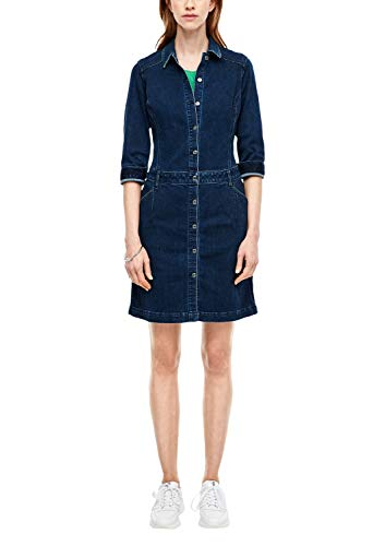 s.Oliver RED Label Damen Kleid aus Denim Blue 42