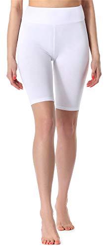 Merry Style Damen Kurze Leggings MS10-219(Weiß,L)