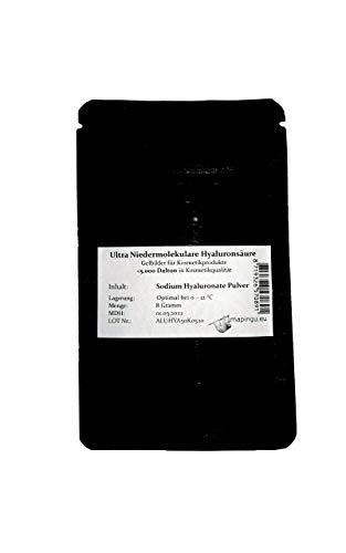 10g Ácido hialurónico en polvo Peso molecular ultra bajo gel <5000 Dalton, anti aging, lotion powder