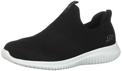 Skechers Damen Ultra Flex-First Take-12837 Sneaker, Schwarz Black White, 38 EU