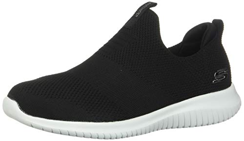 Skechers Ultra Flex-First Take, Zapatillas sin Cordones Mujer, Negro (BKW Black Knit Mesh/Trim), 38 EU