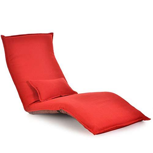 JYQ-SZRQ Bodensessel Folding Freizeit Sofa, Stuhl, Padded Spiel Seating, Multi-Winkel Tatami Erkerfenster Bett Stuhl, for Meditation, Lesen, Zusehen, Video-Gaming (Color : Red)