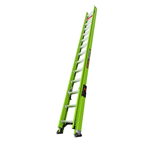 Little Giant Ladder Systems 18828 HyperLite SumoStance, 28' -Type IA-300 lbs Rated, Fiberglass Extension Ladder, 28 Ft, Black