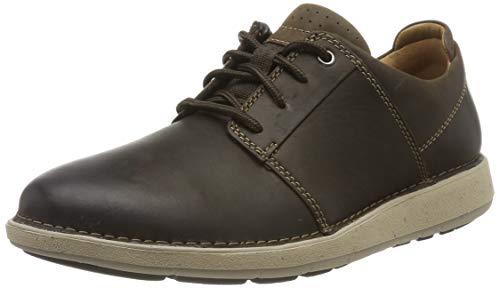 Clarks Un Larvik Lace, Zapatos de Cordones Derby para Hombre, Piel marrón marrón, 42.5 EU