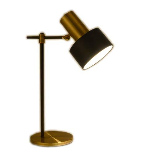 ZHFZD tafellamp ter bescherming van de ogen, Scandinavisch design, eenvoudig metaal, koper, tafellamp, slaapkamer, bedlampje, bureau, tafellamp, oogtafellamp, Size, Zwart