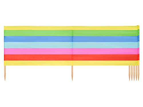 Ladeheid Strand Windschutz Sichtschutz LAEX001 (Regenbogen, 10 m)
