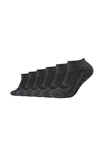 Skechers Unisex Sneakersocken 6er Pack mit gepolsterter Sohle dark grey mouliné, 43/46