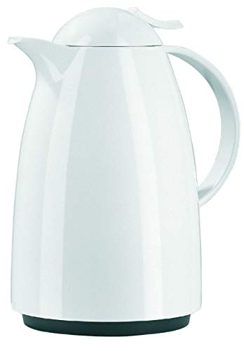 Emsa 621151200 Isolierkanne, 1,5 Liter, Aroma Diamond, Quick Tip Verschluss, 100% dicht, Weiß, Auberge