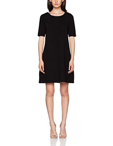 Vila Damen Vicaro A-Shape Jersey Dress-fav Kleid, Schwarz Black, 36 (Herstellergröße: S)