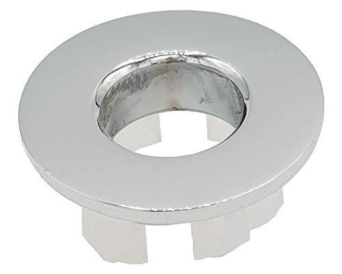 Verchromte Messing Waschbecken Überlauf Abdeckung Loch einfügen