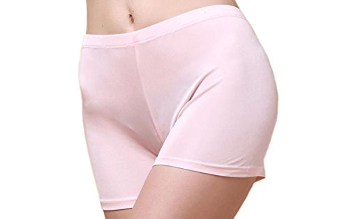 MESHIKAIER Damen Nahtlos Seide Taillenslips Damen Weich Boxer Slip Panties Hipsters Unterhose (Rosa, XXL)