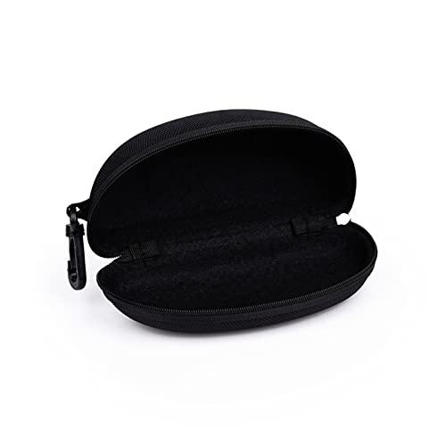 hgkl Fundas Gafas Caja de Gafas EVA Caja de Cremallera Moda Hoja Negra Gafas de Sol Caja Caja de Gafas de Sol de compresión para (Color : Negro)