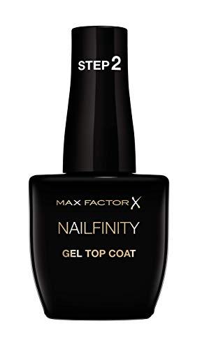 Max Factor Smalto Unghie Nailfinity Top Coat, Smalto a Lunga Tenuta Effetto Gel, 100 The Finale