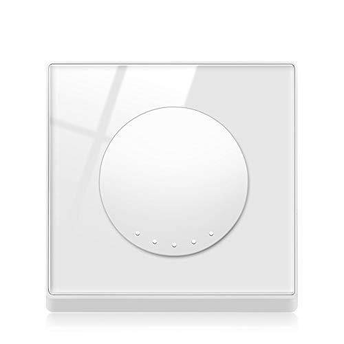 Ploutne 1 Gang 3 Way / 2 Gang 3 Vía Tres controles Botón Rocker Interruptor de interruptor blanco Panel de cristal templado Panel de vidrio PC Interruptor de la llave de la pared Interruptor de la luz