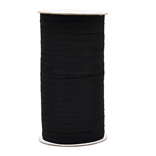 Elastic Bands Cord String Spool for Masks Sewing 100/200 Yards-1/8 &1/4 Inch Flat Earloop Elastic Strap