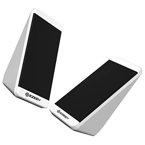 SOLUSTRE 1 Pair Laptop Speaker Radio Bass Enhancement Computer Speaker Loud Volume 3.5mm Wire Control USB Multimedia External Speaker Player