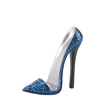 Sparkle Blue Shoe Phone Holder 6x2.5x5.25