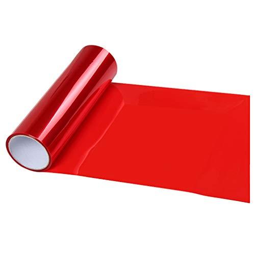 rongweiwang La Linterna del Coche de la Cubierta Protectora del Faro Wrap película de Vinilo Luz Trasera antiniebla stikcer Cine Car Styling, Rojo, 30x60cm