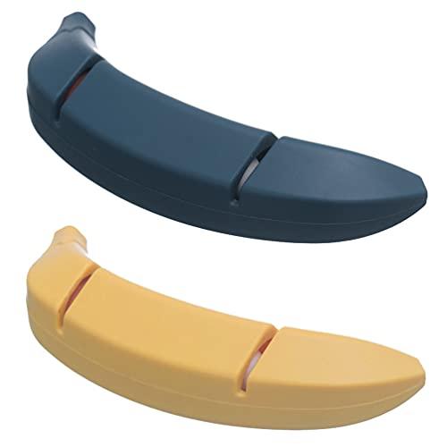 HEMOTON 2 Afiladores de Cocina Aspecto Exquisito en Forma de Plátano Afiladores de 2 Cuchillos de Tijera (Colores Surtidos)