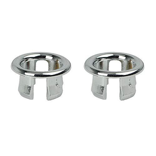 Ogquaton Bad Sieb Runde Kunststoff Waschbecken Überlauf Ablaufdeckel Ersatzteil für Küche Bad verwenden 2 Stücke