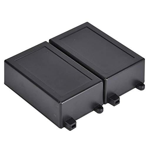Eatbuy 2PCS ABS Kunststoff Elektronische Projektbox Instrumentengehäuse für Leiterplattengehäuse Relaismodul 100 x 62 x 35 mm