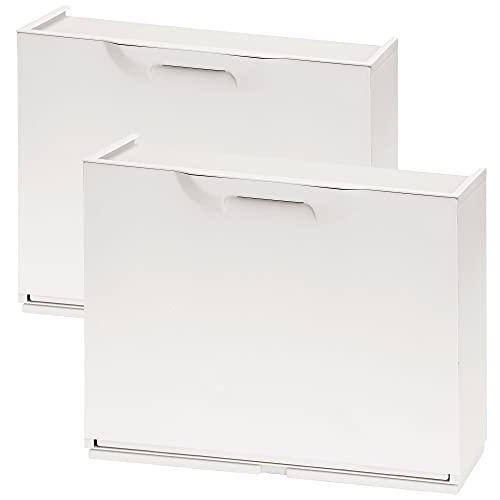 Wellhome UNIKA Pack de 2 zapateros en Polipropileno Color Blanco, 40,1x51x17,3 cms. c/u
