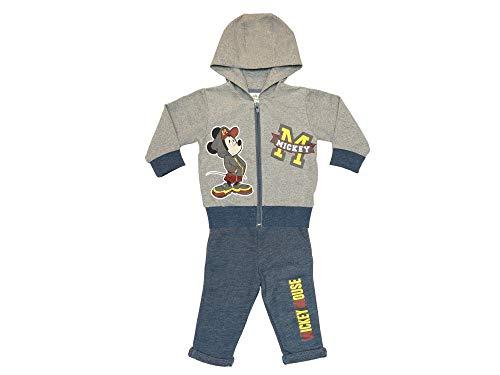 Disney Mickey Mouse Sportanzug, 2Teiler Set, Junge Gr. 68 74 80 86 92 98 104 110 116 Baumwolle Outfit Jogginganzug Hose mit Jacke Kapuzen-Pullover Farbe Modell 4, Größe 68
